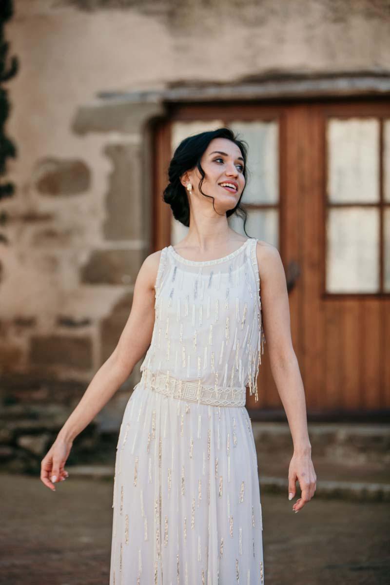 20er Jahre neu entdeckt in 20- Glamouröse Brautkleider von Tilda